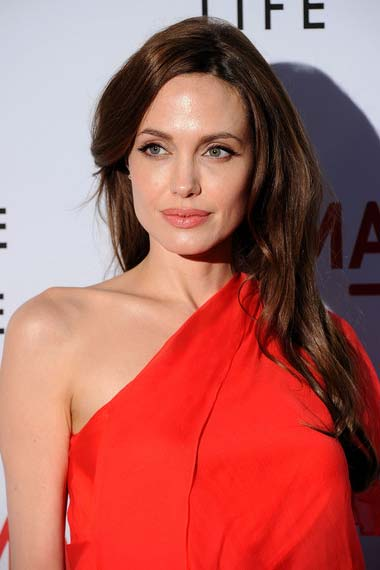 Angelina Jolie with layer cut