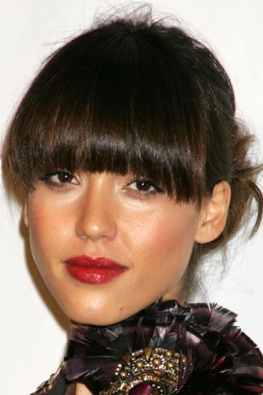 jessica alba hairstyles with bangs. Bangs Jessica Alba