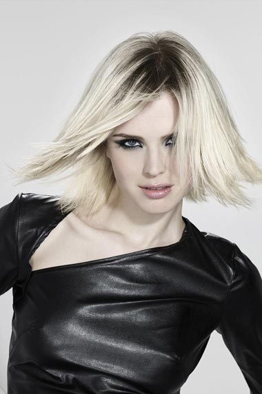 medium length blonde hairstyles 2011. Blunt Bob Blonde Bob Cut