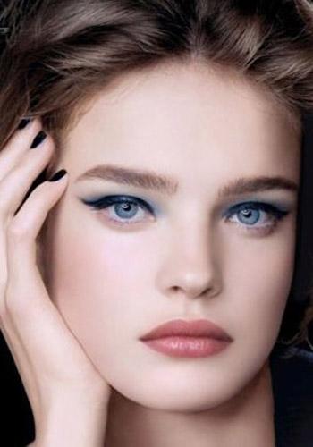 Eyes: Tutorial natural  for skin makeup Makeup Eye Blue good Tips An