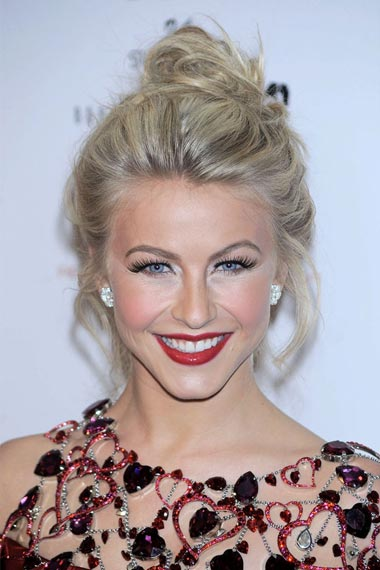Celebrity Messy Updo Hairstyle
