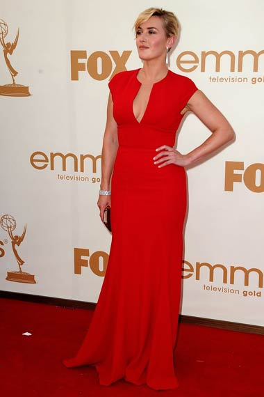 Kate Winslet in Red Dress at Emmy Awards 2012