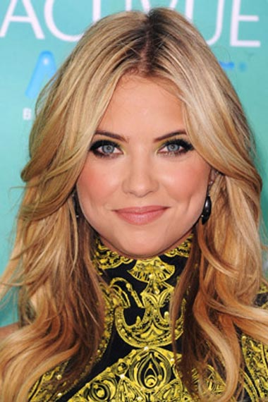 Ashley Benson Long Hair Highlights