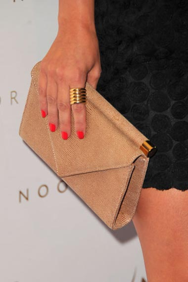 kim kardashian orange nails