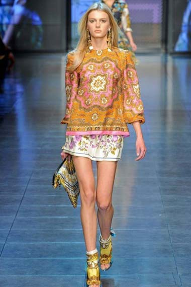 D&G Spring/Summer 2012 Collection at Milan Fashion Week