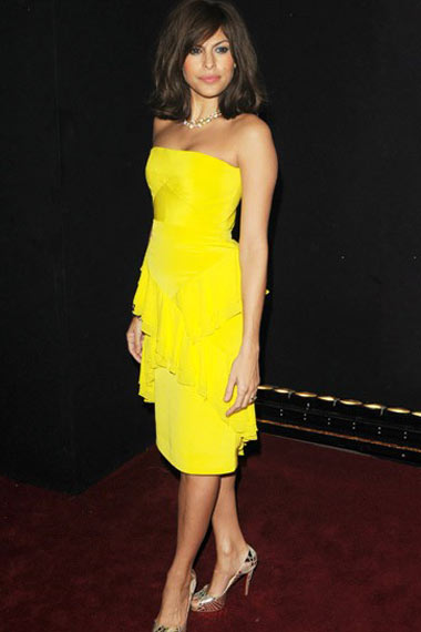 Eva Mendes in yellow
