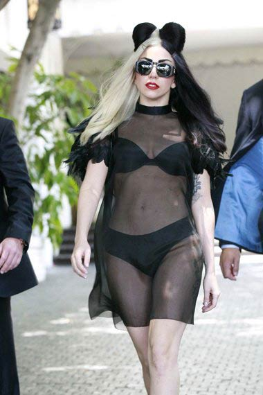Lady Gaga's gothic mickey mouse look