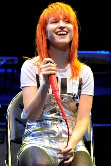 hayley Williams with Orangish hair