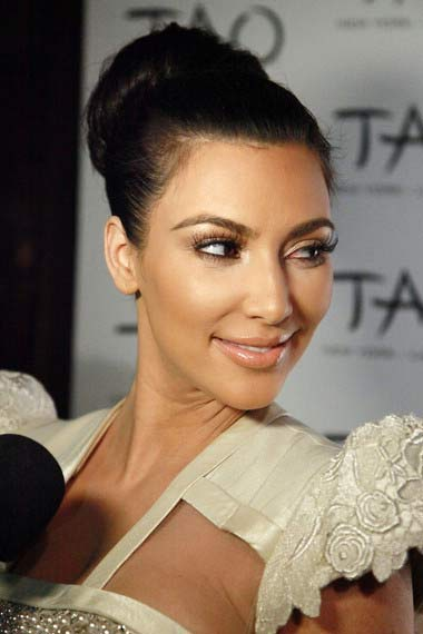 Kim Kardashian with updo