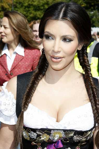 kim kardashian Spring/Summer with Top Hair Plait