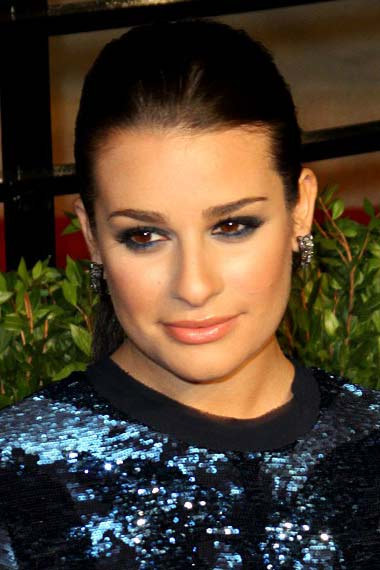 Lea Michele Sleek Ponytail