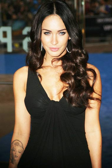 Megan Fox with Monroe tattoo