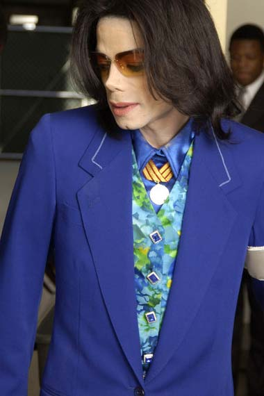 Michael Jackson in green blazer