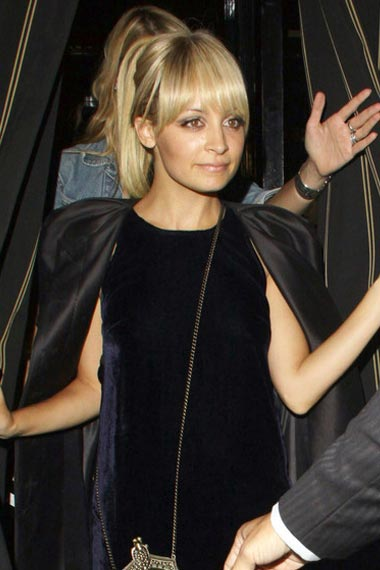 Nicole Richie in short pony hairstyle