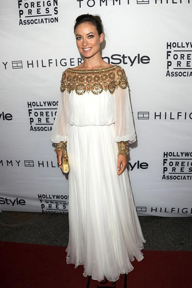 Olivia Wilde in White Marchesa