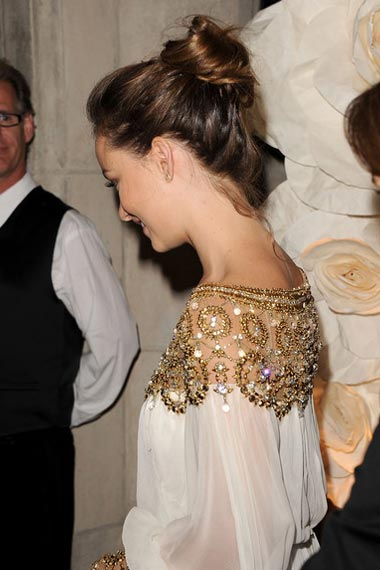 Olivia Wilde in French twist bun