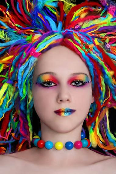 Girl with rainbow hair memes - Colors for girls ...