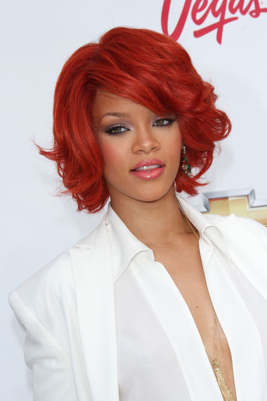 Rihanna's Red Hair Color