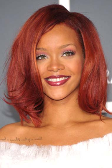 rihanna red hair long. girls have both long red color