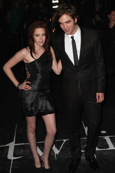 Robert Pattison and Kirsten Stewart at the premiere