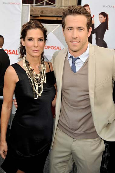 Sandra and Ryan at the premiere