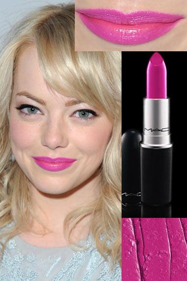 Emma Stone MAC Pink Lipstick