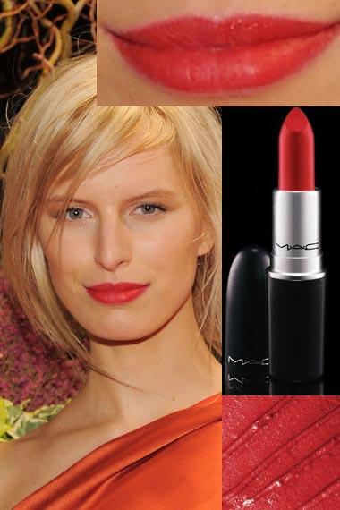 Karolina Kurkova MAC Red Lipstick