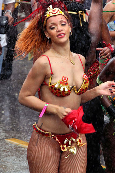 Rihanna Gets Bold in Barbados