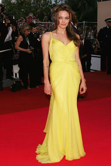Angelina Jolie in yellow