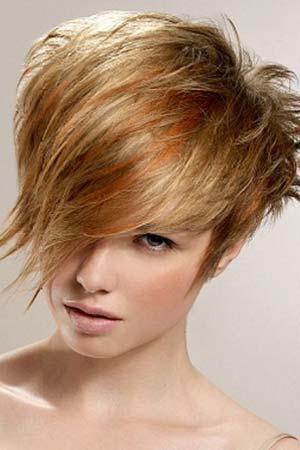 Asymmetric Short Funky Hair