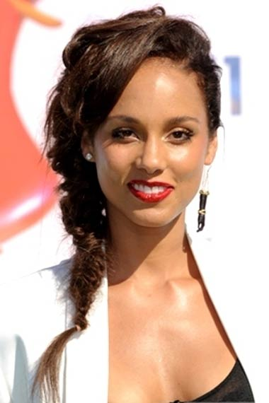 Alicia Keys Hairstyle at BET Awards 2012