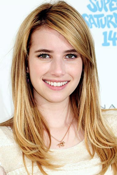 Emma Roberts's Honey Blond color