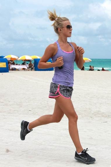 Julianne Hough Beach Workout
