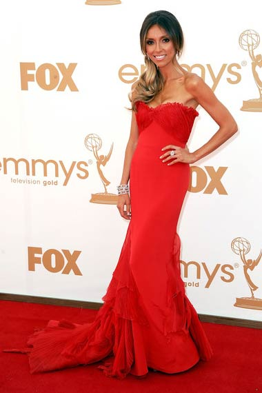 Giuliana Rancic in Red Dress at Emmy Awards 2012