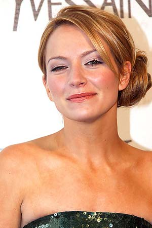 Celebrity updo hairstyle