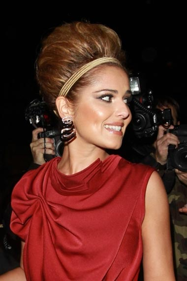 Cheryl Cole In Sky High Updo