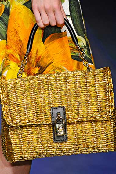 Dolce and Gabbana Spring 2012: Fashion Week Handbags