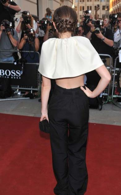 Emma Watson's Quirky Caped Crop Top Back