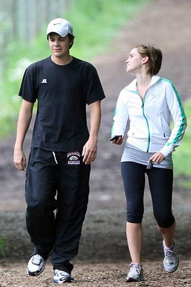 Emma Watson and Johnny Simmonsr