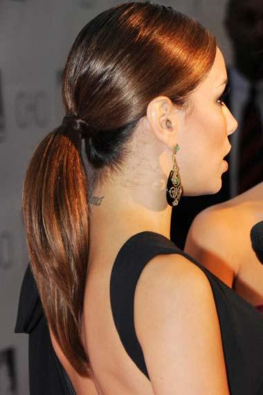 Eva Longoria Parker Sleek Ponytail