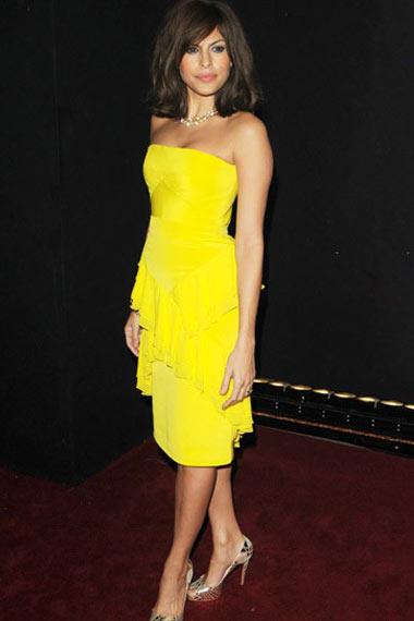 Eva Mendes in yellow