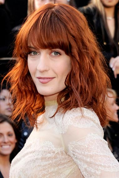 Florence Welch Beachy Hairstyle