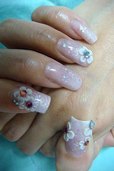 Glittery Nail Design