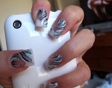 Easy fancy nail designs images nail art and nail design ideas glittery nail designs nail art 2012 prinsesfo images prinsesfo Image collections