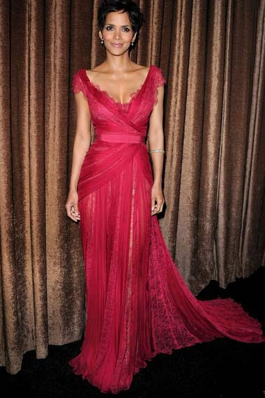 Halle Berry in red