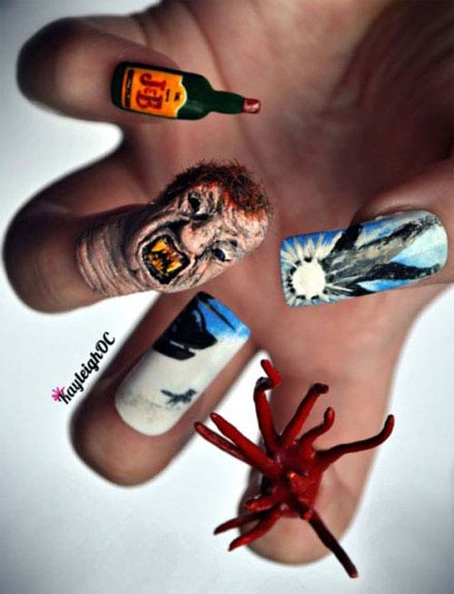 Best and Scary Halloween Nail Art Collection 1
