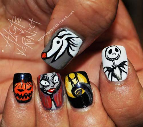 Best and Scary Halloween Nail Art Collection 9