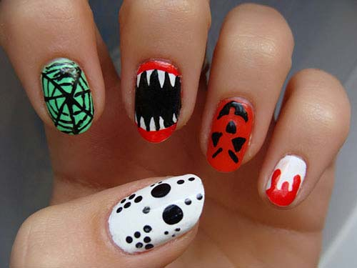 Best and Scary Halloween Nail Art Collection 7
