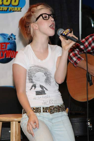 Hayley Williams with Red highlights