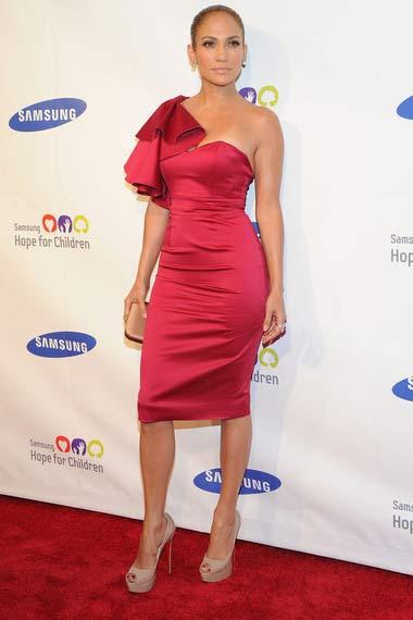 Jennifer Lopez in red